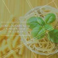 Temos massas deliciosas e fresquinhas esperando por você! 🍝 #massaartesanal #massas #macarrao #ahazou #comidaitaliana