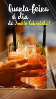 Saia da rotina! Aproveite a nossa promoção de Double Caipirinha, toda quarta-feira, até às 20h. #caipirinha #double #ahazou #promocao