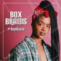 Quem aí curte essa tendência? Já foi usada pelas Kardashians, Taís Araújo e influencers! Venha fazer as suas 😍 #boxbraids #ahazou #cabelo