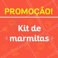 Estamos com um kit promocional de marmitas para 1 mês. Entre em contato e saiba mais! #marmitas #ahazou #promocao