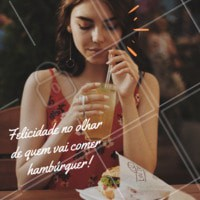 Felicidade de quem vai comer hambúrguer. Quem mais aí é assim? 😊😊😊 #hamburguer #ahazou #felicidade #hamburgueria