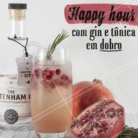 Não  perca o melhor happy hour, com gin tônica em dobro até as XXh. Chame a galera e vem pra cá! 🍹 #bar #bares #ahazou #gintonica #promocao