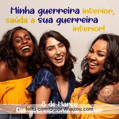 Bom dia! Hoje com uma homenagem especial para todas as mulheres guerreiras que nos acompanham. Feliz dia da Mulher.❤ #diadamulher #guerreira #ahazou #parabens