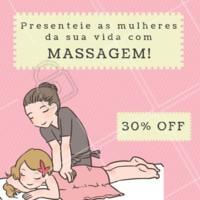Aproveite essa promoção e presenteie aquela mulher especial na sua vida! #massagem #ahazou #mêsdamulher