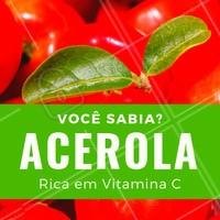 Você sabia que a acerola é a fruta mais rica em vitamina C?  Em 100g de poupa há de 2.000 à 5.000mg de ácido ascórbico, que é a própria fonte de vitamina C. O limão, por exemplo, na mesma quantidade apresenta cerca de 40 a 50mg de ácido ascórbico. Conta pra gente: você gosta de acerola? #acerola #ahazou #bemestar
