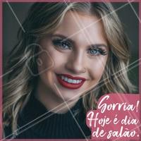 Pode comemorar e ficar feliz porque hoje é dia de cuidar dos cabelos! #cabelo #ahazou #salaodebeleza #cabeleireiro
