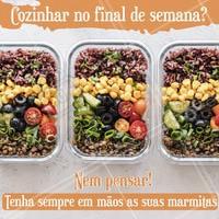 Para se alimentar bem sem se preocupar com a cozinha, tenha sempre suas marmitas prontas em seu freezer! São diversas opções de pratos, faça já o seu pedido e bom apetite! #marmitas #pratos #fitness #ahazougastronomia #ahazouapp #finaldesemana