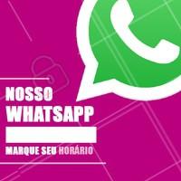 Anote nosso número em seus contatos e agende agora seu horário! #contato #whatsapp #ahazou
