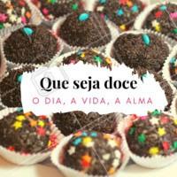 Que o dia seja doce, a vida seja bela e a alma esteja leve! #docinho #ahazou #diadoce