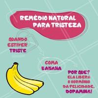 ALERTA: ESSA DICA CONTÉM DOSES DE FELICIDADE! #ficaadica #brazil #dicadodia #ahazou #banana #dopamina #happy #felicidade #beauty #saude #saudavel #felicidade
