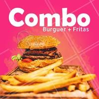 Pedindo seu hambúrguer predileto, as fritas saem por nossa conta! #hamburguer #fritas #ahazou #combododia