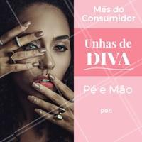 Aproveite esta promoção mais que especial para deixar as unhas impecáveis! 💅 Agende o seu horário agora mesmo! #manicure #pedicure #ahaxou #promocao #mesdoconsumidor