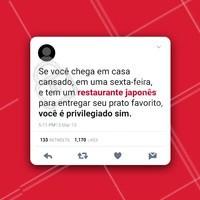 Ah, você é muito mais do que privilegiado aqui! 😋 #food #privilegiadosim #delicia #ahazou #japonês #rodiziojapones #delivery