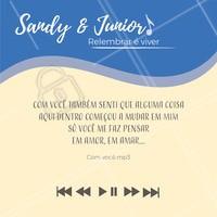 Vem relembrar essa com a gente! 😭 🎶 🧡 #sandyejunior #musica #ahazou #relembrar