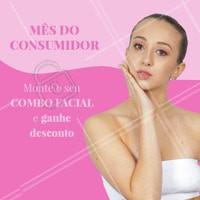 Que tal montar o seu combo ideal com 2 procedimentos estéticos faciais e ainda ganhar um descontinho? 😍 Aproveite! #esteticafacial #ahazouestetica #mesdoconsumidor #promocao