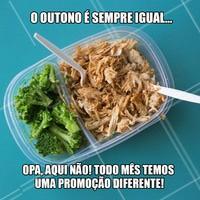Neste mês de março a promoção é exclusiva! Vem pra cá! #ahazou #food #delicia #outonoesempreigual #promocao #marmita #refeicao