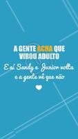 Pra comemorar o Outono que tá chegando e a volta da Sandy e Junior fazendo turnê pelo Brasil! 😱 Quem amou essa surpresa? ❤️ #sandyejunior #ahazou #sandy #junior #outono