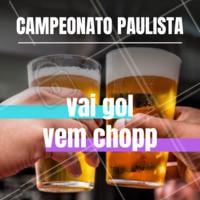 Na época do campeonato Brasileiro, enquanto o jogo estiver sendo transmitido, a cada gol, se você pedir um chopp, ganha outro de graça! #campeonatobrasileiro #doublechopp #ahazou #promocao