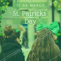 O dia de São Patrício, padroeiro da Irlanda, é comemorado nos países em que o inglês é o idioma oficial. Hoje as pessoas saem às ruas para uma longa caminhada onde todos vestem verde e branco e se divertem muito 🍀#stpatricksday #ahazou
