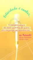 Estudos apontam que cantar no karaokê deixa as pessoas mais felizes  #karaokê #diadafelicidade #ahazou #felicidade