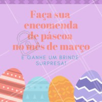 Fazendo sua encomenda de páscoa até o final do mês de março, você leva um brinde surpresa. Não vai perder essa, né?! Faça já sua encomenda 💙 #pascoa #ovodepascoa #ahazou #encomendas