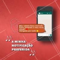 A melhor notificação do mundo, fala sério! ❤️  Não há nada melhor do que ver a felicidade de cada cliente! #cabelo #ahazou #sertanejo #tophits