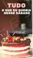 Vai por mim, um bolo é tudo o que você precisa para adoçar o seu sábado 💖 #food #bolo #ahazoutaste #comida #delicia #sabado