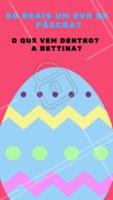Hahaha, se vier a Bettina tudo bem! #ovodepascoa #pascoa #ahazou #memebettina #bettina