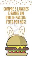 Comprar 5 lanches não é difícil né? Ainda mais ganhando um ovo de páscoa feito por nós! :) #ovodepascoa #hamburguer #ahazou #promoçaodepascoa #promoçao