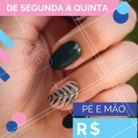 Aproveite! A promoção é por tempo limitado 💅 #manicure #pedicure #ahazounhas #salao