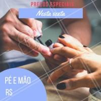 ✨ Hoje é dia de PROMOÇÃO! Venha ficar com as unhas lindas 💅Agende já seu horário! #manicure #pedicure #ahazounhas #salao