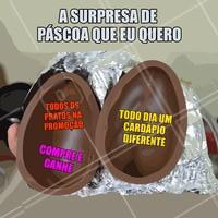 Seria seu sonho? 😂 Ah, fique ligadinho que já já pode rolar novidades!  #pascoa #engracado #ahazoutaste #marmita #refeicao