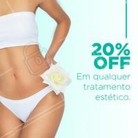 20% OFF  Aproveite, desconto válido até o fim do mês de Março! #estetica #ahazou #ahazouestetica #promoção