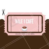 Vamos comemorar o dia mundial do café ganhando um grátis! ❤️️ #cafe #diamundialdocafe #ahazou #abril #14deabril #gratis #valecafe
