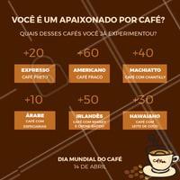 Você ama café? Comenta aqui quantos pontos você marcou!  #café #ahazou #enquete #jogo