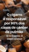 Nesse dia do combate mundial do câncer, reflita, construa novos hábitos e se liberte da dependência do cigarro! #cancer #ahazou #pare
