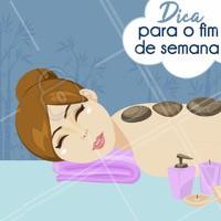 Que tal tirar um fim de semana para cuidar de você? 😉 #cuidadoscomapele #esteticafacial #ahazouestetica  #bemestar
