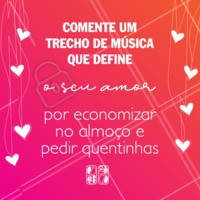 E aí? Qual é a música? 😄🎵 🍲Conta pra gente!  #qualeamusica #ahazoutaste #enquete #musica #food