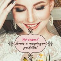 Está em busca a onde se maquiar para o grande dia? Maio é mês das noivas e é bom jpa estar com tudo preparado. Venha fazer um orçamento com a gente! Ligue: XX XXXX – XXXX #maquiagem #noivas #ahazou #casamento