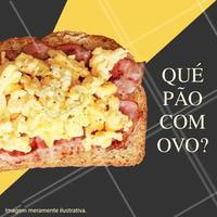 Quer começar o dia com um bom pão torradinho com ovos mexidos e cremosos? Vem pra cá! 😋  #pao #ovomexido #cafe #ahazou #delicia