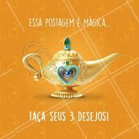 E aí, o que você quer pedir ao Gênio da Lâmpada? 😂 Conta pra gente 👇 #esteticafacial #comentaai #genio #ahazou #desejos #magica #engracado #enquete