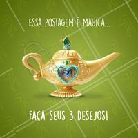 E aí, o que você quer pedir ao Gênio da Lâmpada? 😂 Conta pra gente 👇 #depilacao #comentaai #genio #ahazou #desejos #magica #engracado #enquete