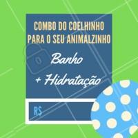 O coelhinho trouxe vários combos pro seu animalzinho: Banho + Tosa por R$XX,XX. Agende já o seu horário! #banho #hidratação #pascoa #ahazou #promoçao #petshop