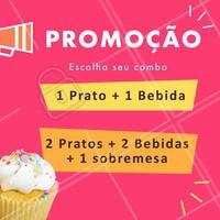Escolha o seu combo promocional e venha pra cá! 😃 Não vai ficar de fora dessa promoção né? 😜 #food #ahazoutaste #gastronomia  #promocao #combo