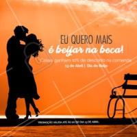 Nesse dia do beijo,desejamos muito amor e também distribuímos descontos! 😘 #diadobeijo #desconto #13deabril #ahazoutaste #food #promocao