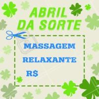 Pega essa promo, porque não é todo mês que a sorte bate na sua porta! #promoção #abrildasorte #ahazou #masssagem