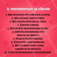 É pra seguir os mandamentos, hein! 😜 #cilios #extensaodecilios #ahazou #alongamentodecilios