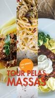 Mais uma promoção deliciosa aqui: Tour pelas massas.😋 São três opções de molho que você pode escolher para acompanhar o seu prato, feito com a massa fresca e saborosa que você já conhece. E tudo por um preço irresistível, rodízio por apenas R$xx,xx. #ahazoutaste #molho #food #delicia #desconto