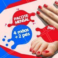 Aproveite o pacote promocional incrível que separei para você! 😊 Agende um horário! #manicure #pedicure #unhas #promocao