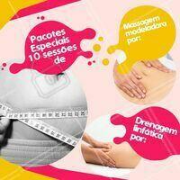 Aproveite estes pacotes promocionais incríveis que eu separei para você! 😊 Venha cuidar do seu corpo! #esteticacorporal #promocao #ahazouestetica #massagemmodeladora #drenagem